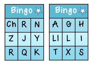 Bingo: Letras mayúsculas // Capital Letter Bingo in Spanish