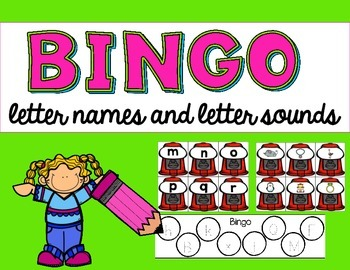 Interactive Bingo- Letter Names and Beginning Sounds
