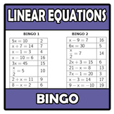 Bingo - Linear equations - Ecuaciones lineales