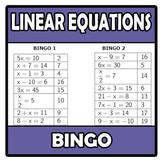 Bingo - Linear equations - Ecuaciones lineales