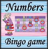 Bingo. Listening numbers game.