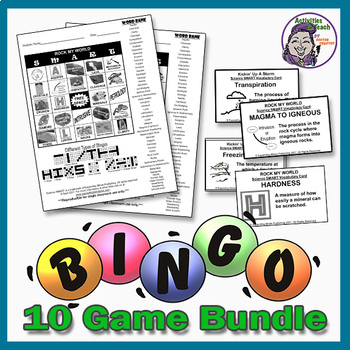 Science Bingo Bundle - 10 Great Games - 30% Savings