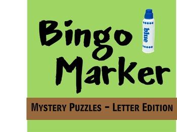 Bingo Marker Letter Mystery Puzzles (Preschool & Kindergarten)