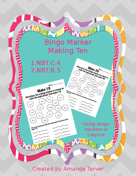 Bingo Marker Making Ten