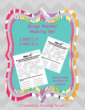 Bingo Marker Making Ten