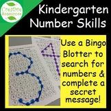 Pre-K Number practice identification worksheets 0 through 9 using bingo blotters