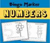 Bingo Marker Number Worksheets (Preschool)