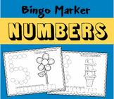 Bingo Marker Number Worksheets (Preschool)