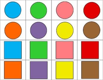 2D Shapes Bingo Math Center