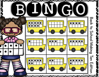Back to School Making Ten: Bingo Math Center