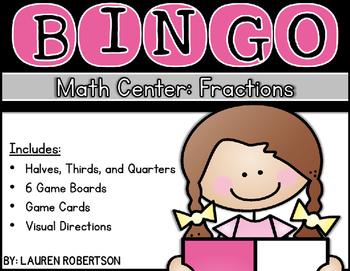 Bingo Math Center- Fraction Edition