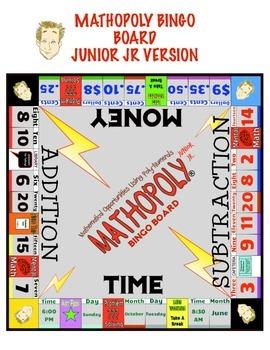 Bingo Math - Junior Jr - Grade 1 and 2 Cool Math Game By Mathopoly® Games