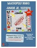 Bingo Math - Junior Jr - Grade 1 and 2 Cool Math Game By M