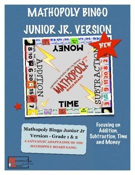 Bingo Math - Junior Jr - Grade 1 and 2 Cool Math Game By M