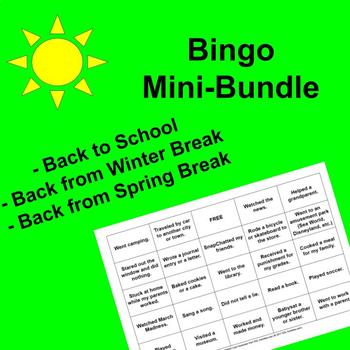 Icebreaker Bingo Mini-Bundle  Icebreaker, Warm-up, Get-to-Know-You