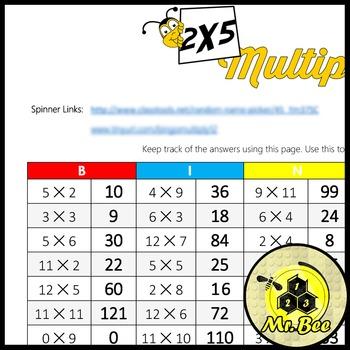 The Best Bingo Multiplication Bingo (Multiply up to 12)