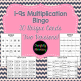 Bingo Multiplication Facts 1-9 - Two Versions!