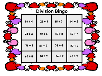 Bingo-Multiplication and Division