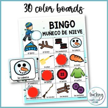 Bingo Muñeco de Nieve - Snowman Bingo