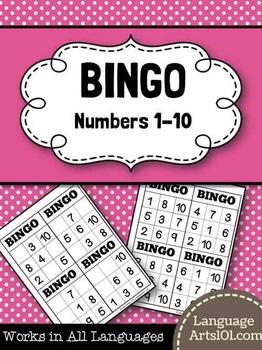 Bingo Numbers 1-10