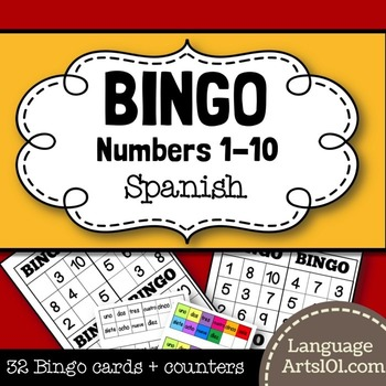 Bingo Numbers 1-10 Spanish | Bingo Números 1-10 Español