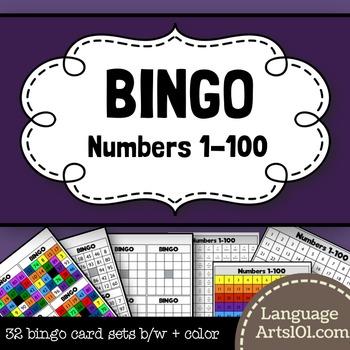 Bingo Numbers 1-100