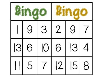 how to play bingo with numbers