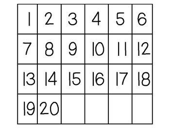 Bingo: Numbers 1-20