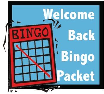 Welcome Back Bingo Packet: Back-to-School, Winter, Spring Break, & Field Trips
