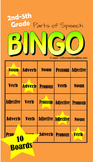 Bingo: Parts of Speech Game (Noun, Verb, Adverb, Adjective,and Pronoun)