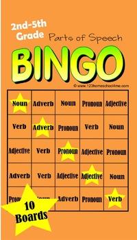 Bingo: Parts of Speech Game (Noun, Verb, Adverb, Adjective