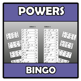 Bingo - Powers and exponents - Potencias