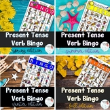 Bingo: Present Tense Verbs and Pronouns Seasonal Bundle