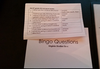 Bingo Questions VS 2a-c