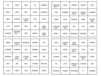 Bingo - Realidades 1 - Para Empezar
