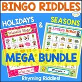 Bingo Riddles Speech Therapy  Holidays and Seasons Mega Bundle