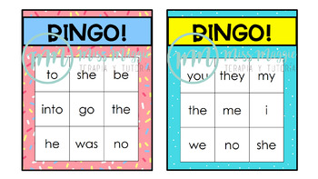 Bingo Roulette Tricky Words -Letters & Sounds- Phases 2 & 3