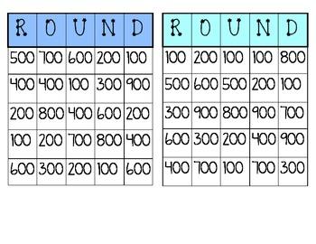 Bingo- Rounding to nearest 100 (Aligned to Common Core)