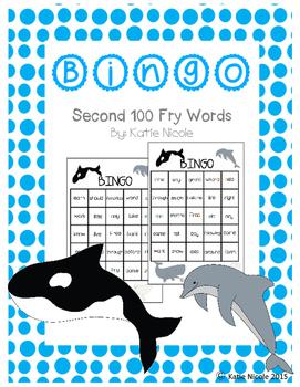 Ocean Themed Sight Word Bingo