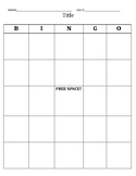 Bingo Sheets Editable