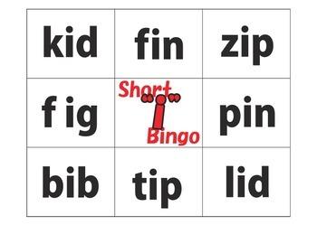 "Bingo: Short ""i"" Words"
