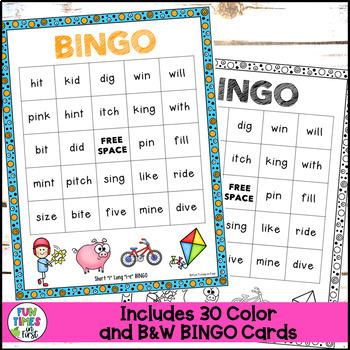 "Bingo:  Short ""i"" and Long ""i"""