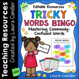 Spelling and Vocabulary Game Tricky Words Bingo Editable