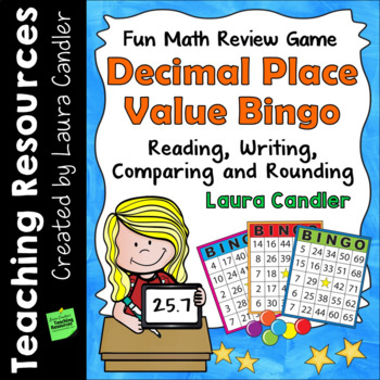 Decimals Place Value Bingo Math Game
