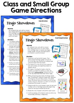 Task Cards Game: Bingo Showdown