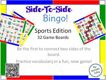 Bingo - Side-To-Side  - Sports Vocabulary Game