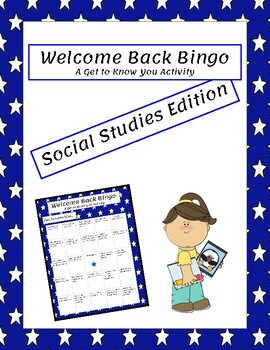 Bingo- Social Studies Edition- Beginning of the year