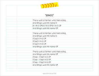 Bingo Song PUPPETS