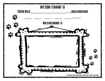 Bingo Song Printable: My Dog's Name-O