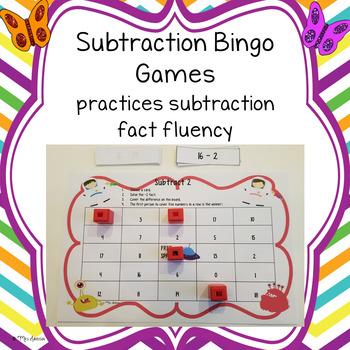 Subtraction Bingo Games